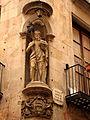 096 Casa del Gremi d'Assaonadors, estàtua de Sant Joan.jpg