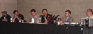 Image Comics - A panel of non-founding Image creators at the 2010 New York Comic Con (l–r): Tomm Coker, Tim Seeley, Ben McCool, James Zhang, Nick Spencer and Ron Marz
