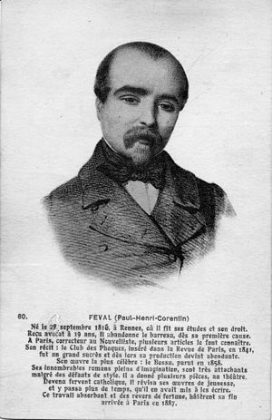 Paul Féval, père - Paul Féval, postcard F. Château