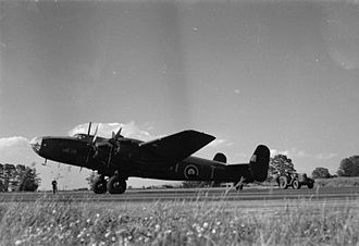 No. 102 Squadron RAF - 102 Squadron Halifax at RAF Pocklington