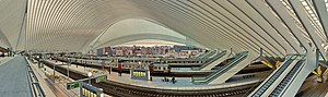 Liège-Guillemins railway station - inside view (2013)