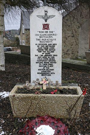 Battle of Bure - Memorial at Bure, Belgium