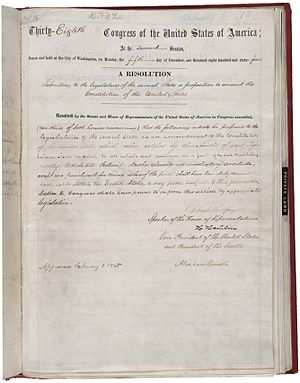 Reconstruction Amendments - Text of the 13th Amendment