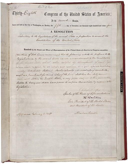 13th Amendment Pg1of1 AC