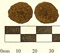 14. Copper alloy Roman coin; barbarous radiate of uncertain ruler. c.275-85AD (FindID 239338).jpg