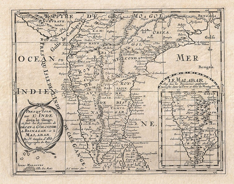1652 Sanson Map of India - Geographicus - India-sanson-1652