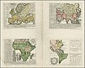 1741 maps of Europe, Asia, Africa and America showing the distribution of languages by Gottfried Hensel.jpg
