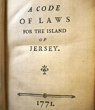 States of Jersey - 1771 Code of Laws