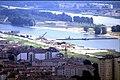 178R24270888 Blick vom Donauturm, Blick Richtung Südosten Donauinsel,Kaisermühlen, im Hintergrund Praterbrücke, Bau der Donauinsel.jpg