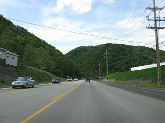Pennsylvania Route 36 - PA 36 just north of the intersection with PA 867 in Taylor Township, just outside Roaring Spring.