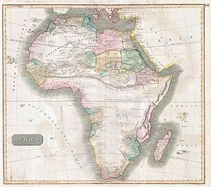 John Thomson (cartographer) - Image: 1813 Thomson Map of Africa Geographicus Africa thomson 1813
