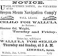 1863 newspaper advertisement for steamer Colonel Wright.jpg