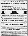 1881 - J C Anewalt Newspaper Ad Allentown PA.jpg