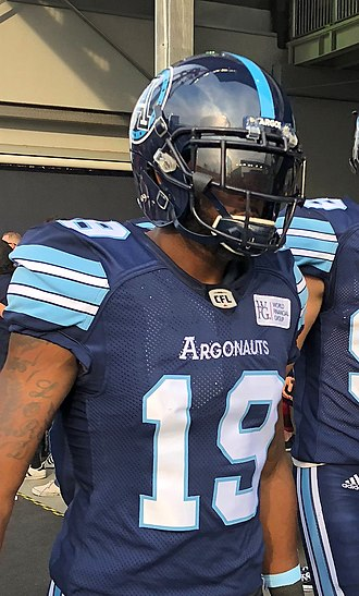 S. J. Green - S. J. Green before an Argonauts game in 2018.