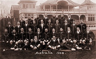 1908–09 Australia rugby union tour of Britain - The 1908 squad to tour England