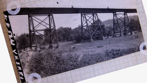 Little Pipe Creek bridge and viaduct - Little Pipe Creek bridge (1915 ICC photo)