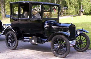 "Old Order Mennonite - ""Black bumper"" car of the 1920s, such as might have been driven by early Horning Church members."