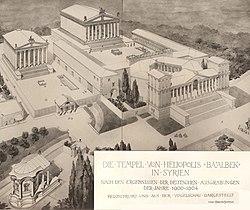 1921 reconstruction of the Baalbelk temple complex.jpg