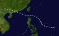 1937 The Hong Kong great Typhoon track.png