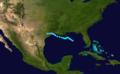 1941 Atlantic tropical storm 1 track.png