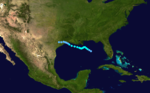1941 Atlantic tropical storm 1 track.png