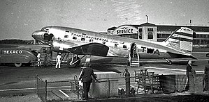 John Glenn Columbus International Airport - A Douglas DC-3 at Port Columbus in 1941