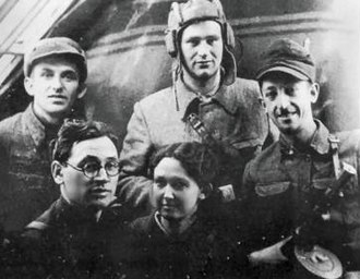 Resistance during World War II - Belorussia, 1943. A Jewish partisan group of the Chkalov Brigade.