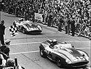 1957-05-12 Mille Miglia winners Ferrari 315 Taruffi sn0684 e von Trips sn0674.jpg