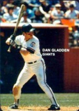 Dan Gladden - Gladden batting for the Giants in 1985