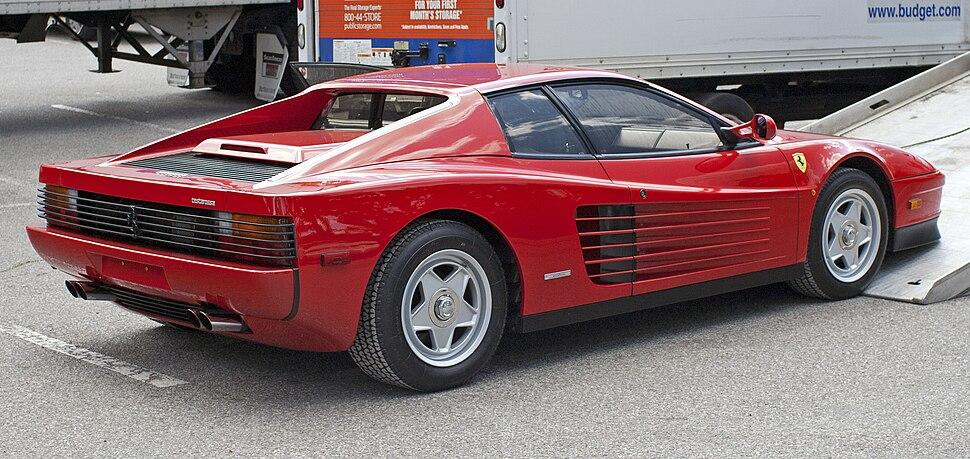 1986 Ferrari Testarossa being unloaded