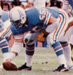 Carl Mauck - Mauch playing for the Oilers in 1978