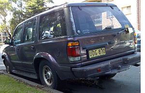 1996–1997 Ford Explorer (UN) Limited, photogra...