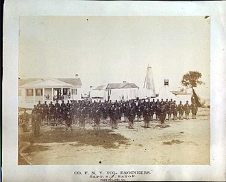 1st New York Volunteer Engineer Regiment - Company F, after the capture of Fort Pulaski in 1862