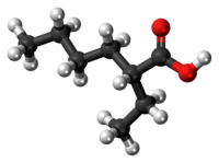 2-Ethylhexanoic acid molecule