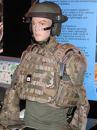 MultiCam - A mannequin wearing an early prototype of a MultiCam combat shirt in July 2004.