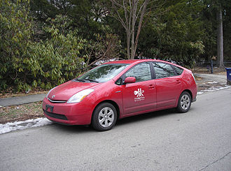 Carsharing - Toyota Prius used by PhillyCarShare service, Philadelphia, Pennsylvania