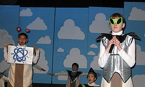 A Very Merry Unauthorized Children's Scientology Pageant - Xenu scene, 2007 Philadelphia production