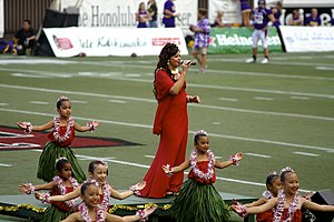 Halftime show - Amy Gilliom sings at the halftime show for the 2007 Hawaii Bowl.