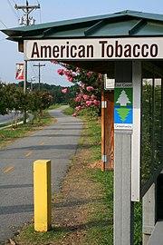 2008-07-23 American Tobacco Trail terminus in Durham.jpg