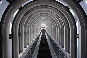 English: Escalator Tunnel, Umeda Sky Building,...