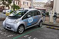 2010 Mitsubishi i-MiEV (GA MY10) hatchback, Positive Charge, using ChargePoint station, 1 David Street, Brunswick, Victoria (2015-07-15) 01.jpg