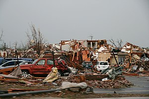 2011 Joplin tornado - Destroyed area in the tornado's damage path.