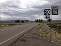 2014-08-11 13 12 18 View south at the south end of Nevada State Route 892 (Strawberry Road) at U.S. Route 50 in White Pine County, Nevada.JPG