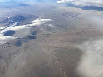 Great Salt Lake Desert - View of the desert from an airplane
