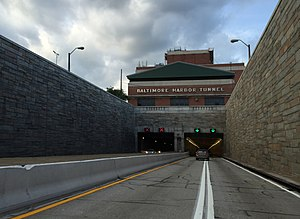 Baltimore Harbor Tunnel - The southwestern portal of the tunnel