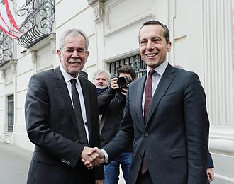 Christian Kern - Kern with Austrian President Alexander Van der Bellen, 20 December 2016