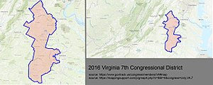 Virginia's 7th congressional district - Virginia's 7th congressional district - since January 16, 2016.