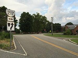 State highways serving Virginia state institutions - SR 217