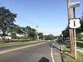 2017-09-10 07 53 34 View south along U.S. Route 1 Business and U.S. Route 206 and west along Mercer County Route 645 (Brunswick Circle Extension) at the Brunswick Circle in Lawrence Township, Mercer County, New Jersey.jpg
