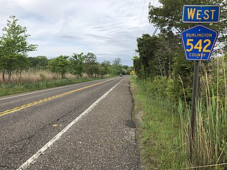 Washington Township, Burlington County, New Jersey - CR 542 in Washington Township
